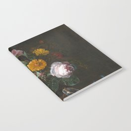 Willem Van Aelst - Vanitas Flower Still Life Notebook