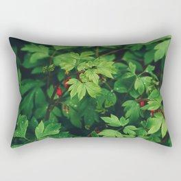 Fresh Forest Foliage Rectangular Pillow