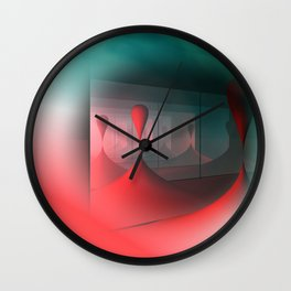 colors and mirrors Wall Clock