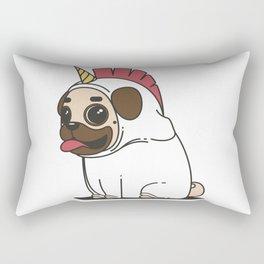 Pug dog unicorn Rectangular Pillow