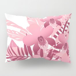 Bouquet of pink tropical plants Pillow Sham