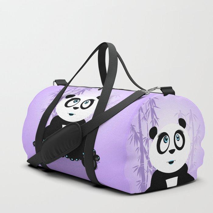 Panda Girl - Purple Duffle Bag
