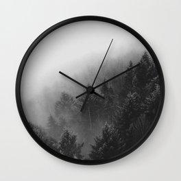 Misty Forest II Wall Clock