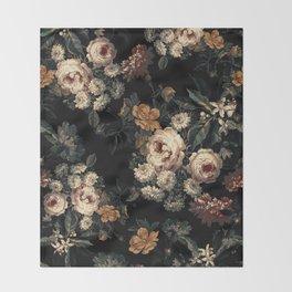 Midnight Garden XIV Throw Blanket