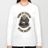 spawn Long Sleeve T-shirts featuring Spawn of Cthulhu Sepia Tone by Azhmodai