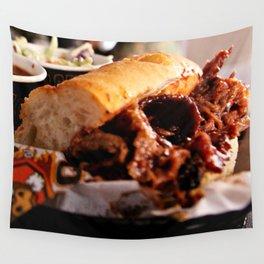 BBQ Beef Brisket Sandwich Wall Tapestry