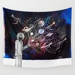 Worlds Spring from his hands Wall Tapestry
