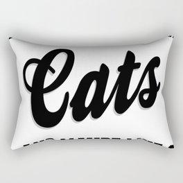 I Care About Cats Tee Rectangular Pillow