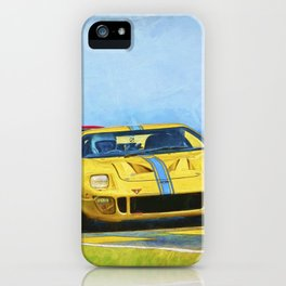 Yellow Ford GT40 iPhone Case