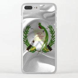Guatemala Flag Clear iPhone Case