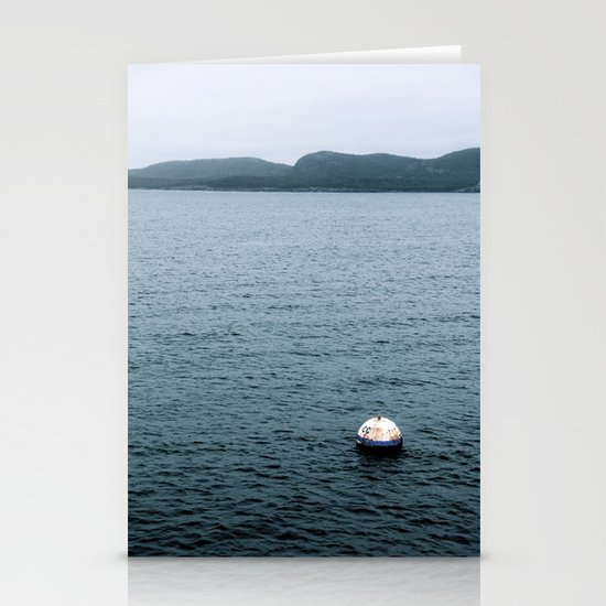 Bouy's View - In The Gulf of Maine Stationery Cards