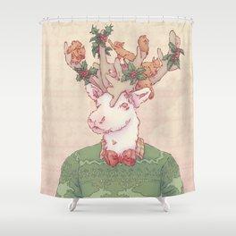 Dasher le Renne Shower Curtain