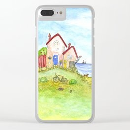 At the seaside Clear iPhone Case