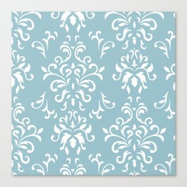 Elegance - blue Canvas Print