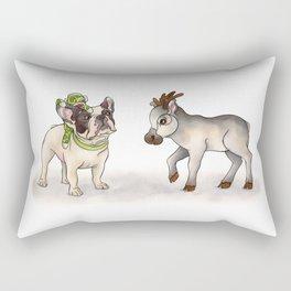 Bubba, Monkey Toy & Reindeer Rectangular Pillow