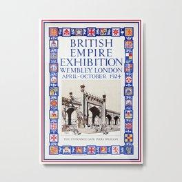 1924 British Empire Exhibition Wembley London Metal Print