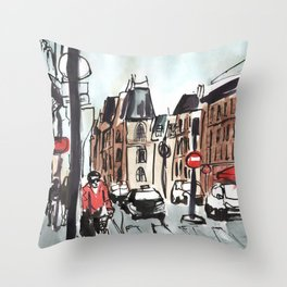 Paris in the Afternoon Throw Pillow