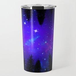 Magical Forest Galaxy Night Sky Travel Mug