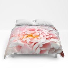 Peony Flower Photography, Pink Peony Floral Art Print Nursery Decor A happy life - Peonies 2 Comforters