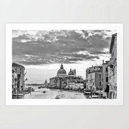 A view of Venice from the Accademia Bridge Art Print