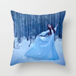 Snow Dancing Throw Pillow