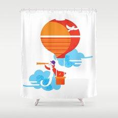 Scientist traveler Shower Curtain