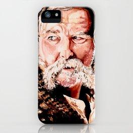 Kurt Russell Watercolor Portrait iPhone Case