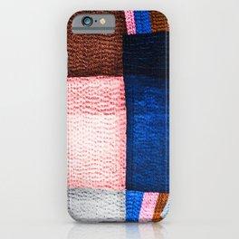 Blue Sashiko iPhone Case