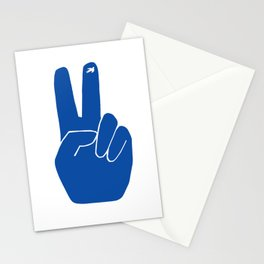 Blue Peace Out Sign Stationery Cards
