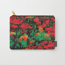 Flora Celeste Ruby Floral  Carry-All Pouch