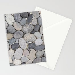 Smooth Grey Pebble Minimalistic Zen  Stationery Cards