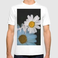 Close up daisy White Mens Fitted Tee MEDIUM