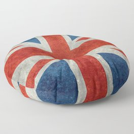 "English Flag ""Union Jack"" bright retro 3:5 Scale Floor Pillow"