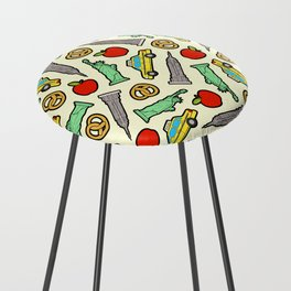 New York, New York Pattern Counter Stool