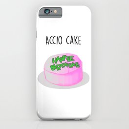 Magic cute Accio Cake Watercolor iPhone Case