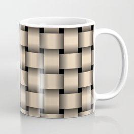 Bisque Brown Weave Coffee Mug