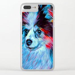 The PAPILLON from our POP YOUR POOCH line Clear iPhone Case