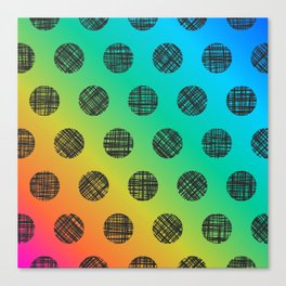 DP037-6 rainbow dotted Canvas Print