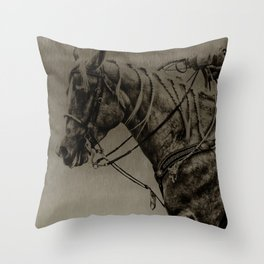 Work Ethic Throw Pillow
