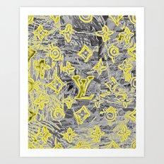LV NEONIZED Art Print