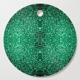 Beautiful Emerald Green glitter sparkles Cutting Board
