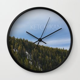 Ketchikan Mountain Forest Wall Clock