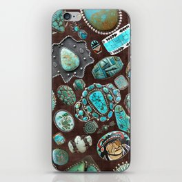 Vintage Navajo Turquoise stones iPhone Skin