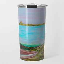 A Boat and a Seamless Sky Travel Mug