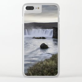 Godafoss Waterfall Iceland Clear iPhone Case
