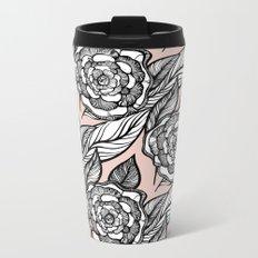rose flowers pattern Metal Travel Mug