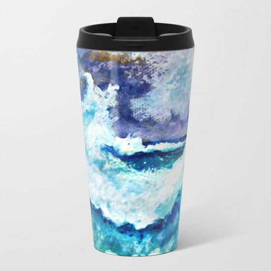 Stormy Sea Metal Travel Mug