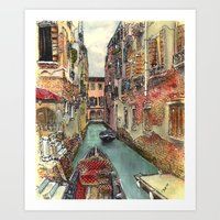 Autumn in Venice Art Print