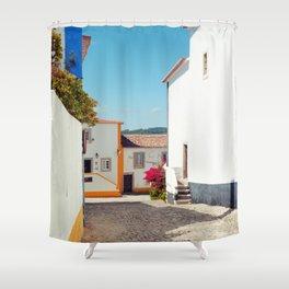 Obidos, Portugal (RR 177) Analog 6x6 odak Ektar 100 Shower Curtain