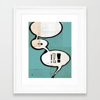 comic book Framed Art Prints featuring Comic Book: !!! by Ed Pires